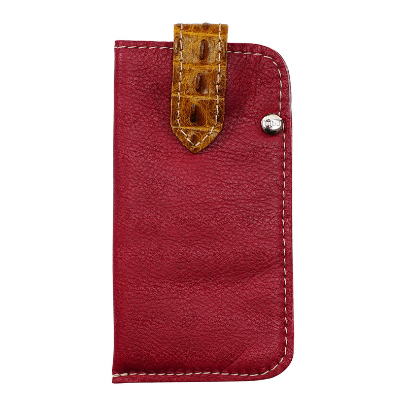 Red Leather Eyeglasses Holder
