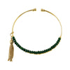 Golden Bracelet w/ Green Crystals