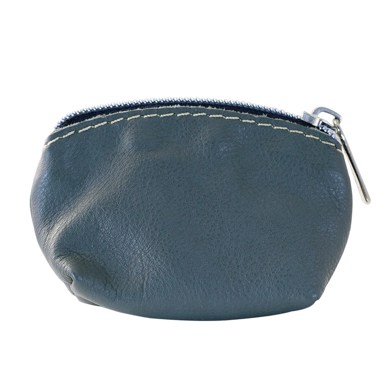 Grey Leather Purse
