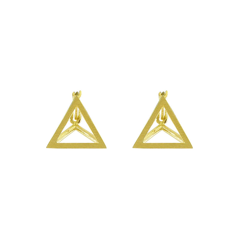 Golden Triangle Earrings