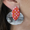Horn & Resin Earrings w/ Pattern