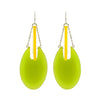Green & Yellow Resin Earrings