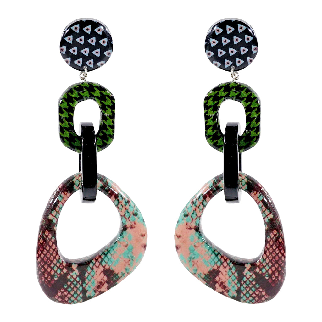 all products dura earrings collections pedra multicolored