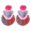 Multicolored Pattern Earrings
