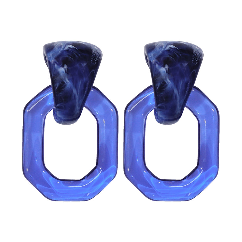 Blue Transparent Earrings