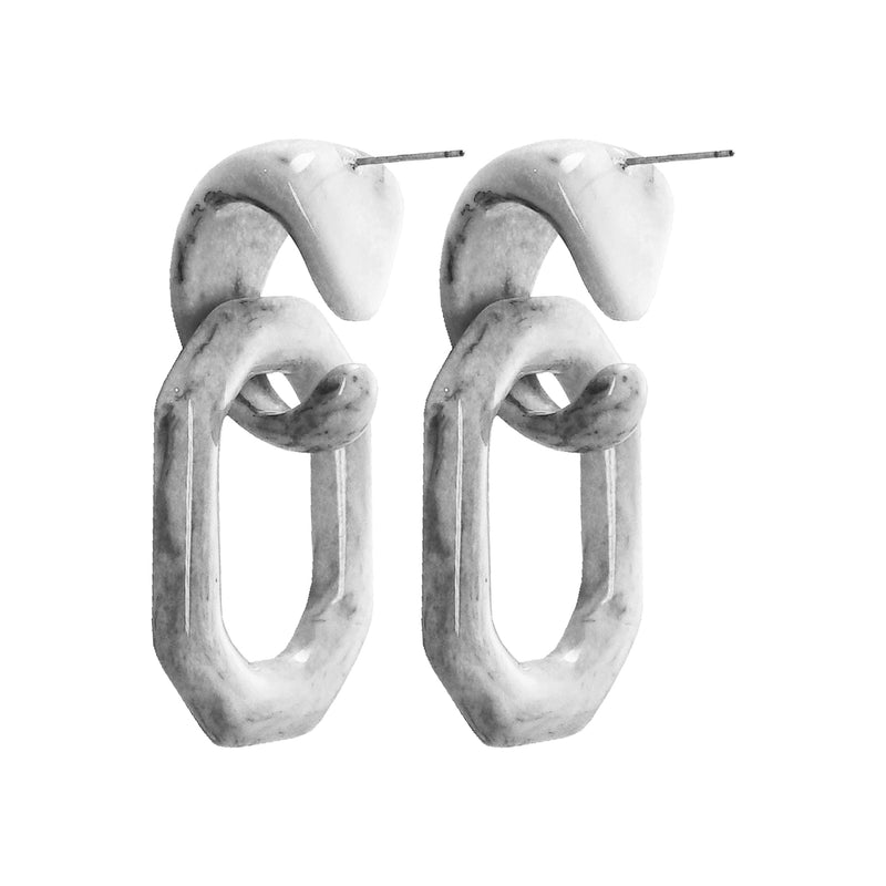 White & Grey Earrings