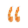 Orange & Beige Earrings