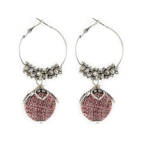 Silver & Pink Earrings