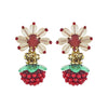 Strawberry Crystal Earrings