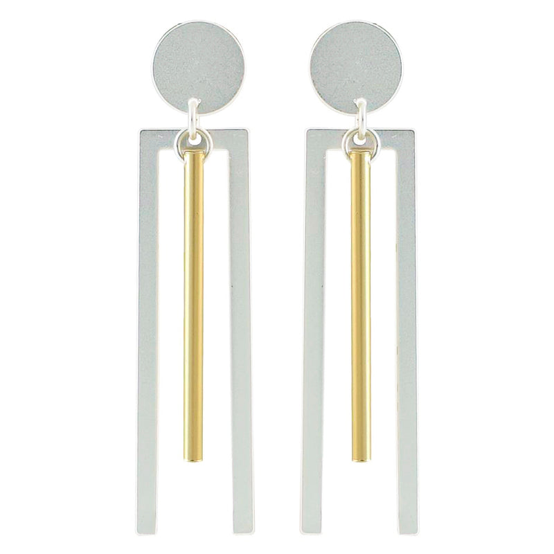 Silver & Golden Geometric Earrings
