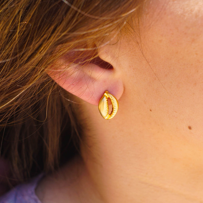 Golden Conch Earrings