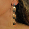 Coppered & Silver Metal Earrings