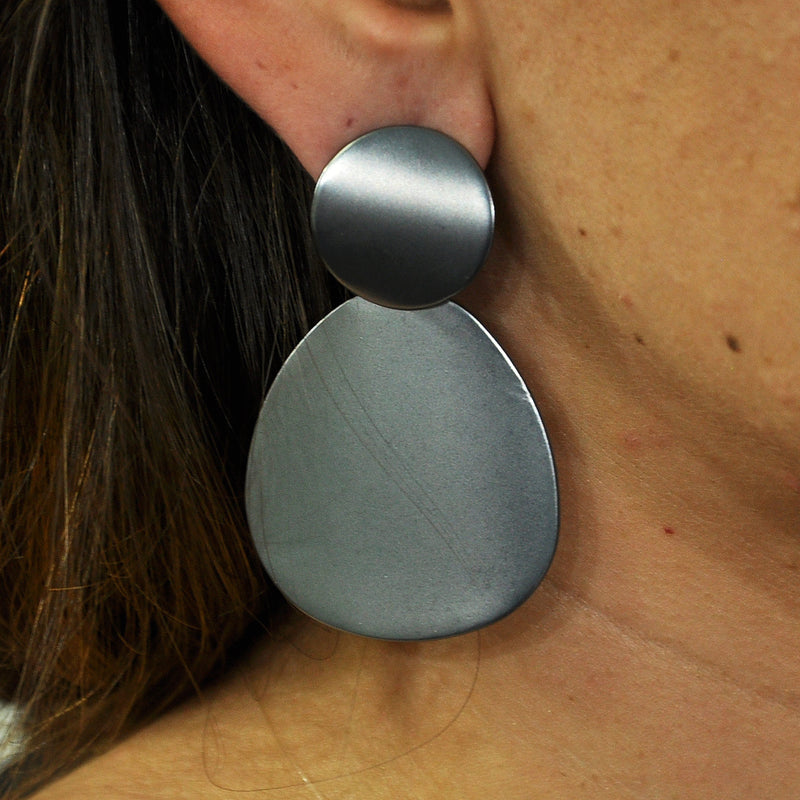 Gunmetal Earrings