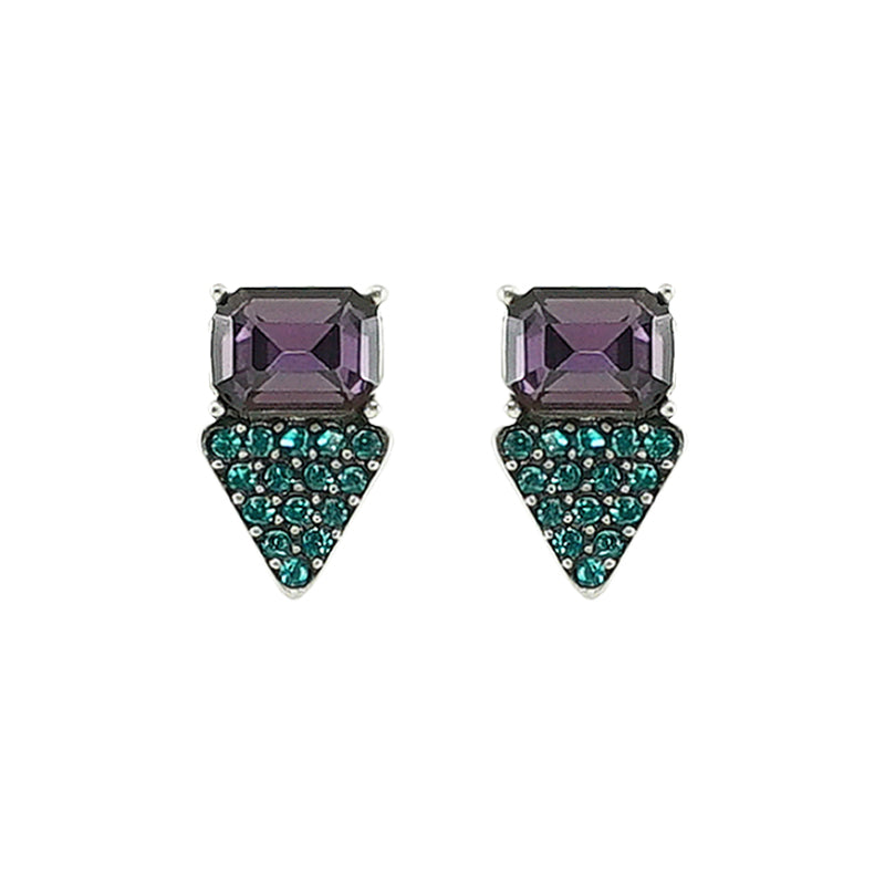 Blue & Purple Crystal Earrings
