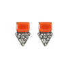 Orange Crystal Earrings