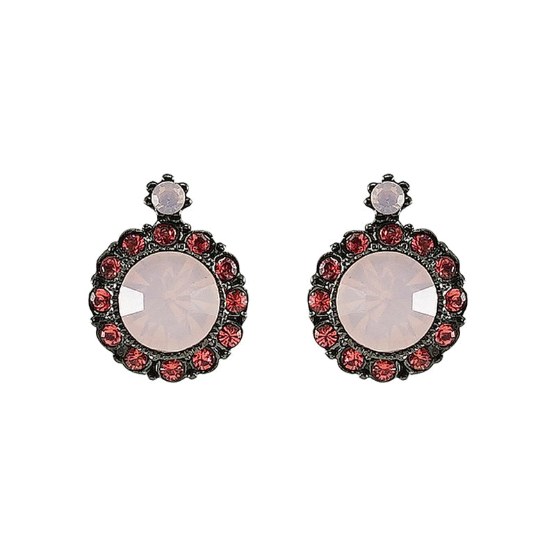Red & Rose Crystal Earrings