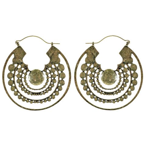 Golden Earrings w/ Pink Tassels