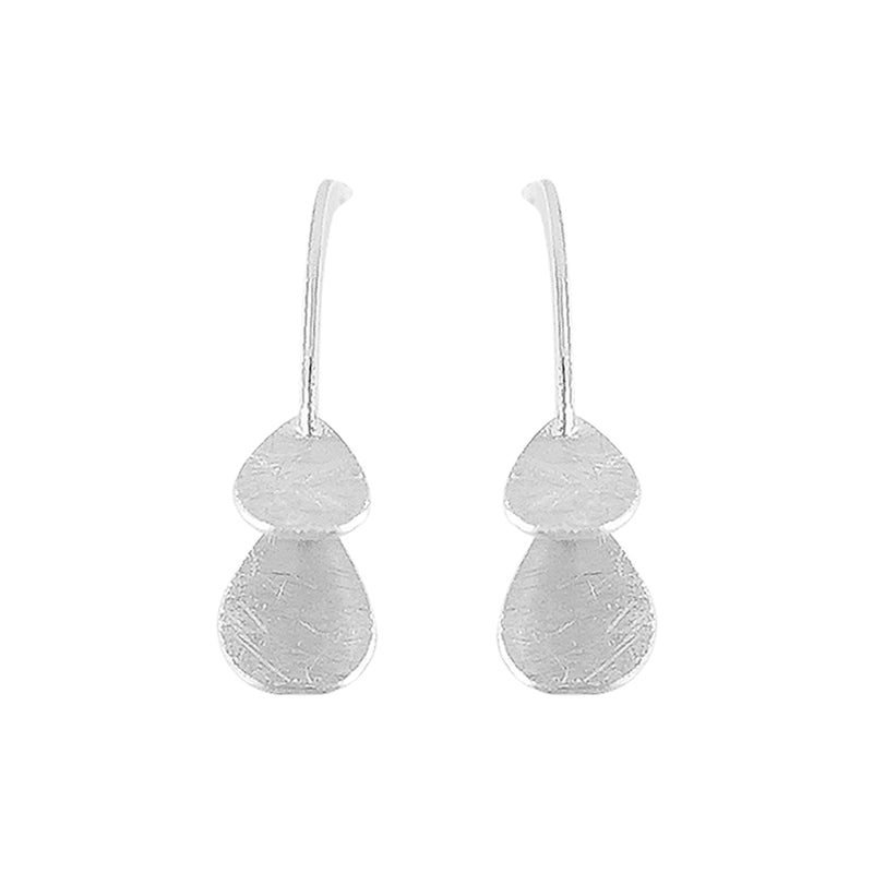 Scratched Silver Earrings