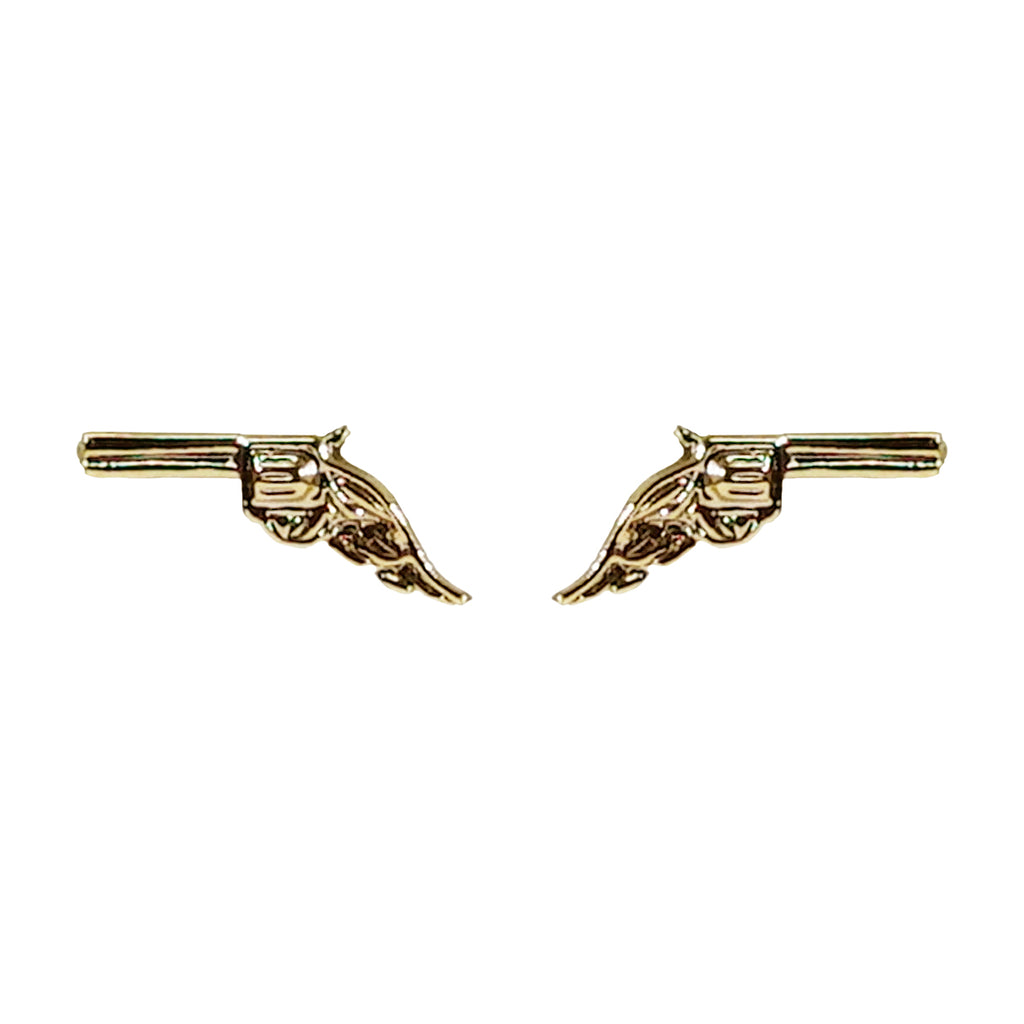 Small Bronze Gun Earrings
