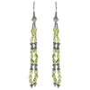 Sterling Silver Earrings w/ Green stones