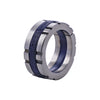 Metal Ring w/ Blue Detail