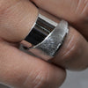 Scratched Silver Plated Ring