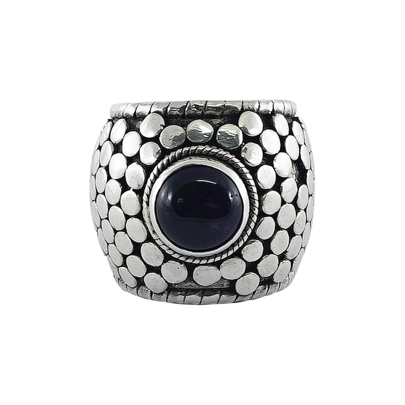 Sterling Silver Ring w/ Purple Stone