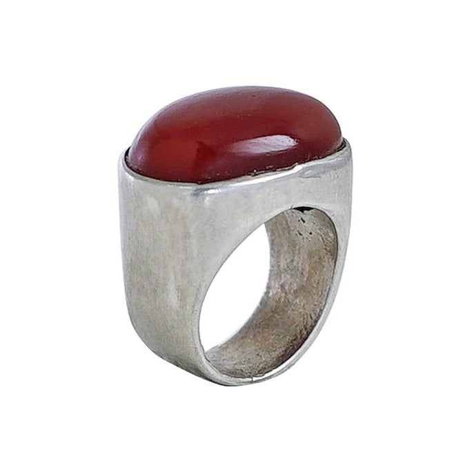 Sterling Silver Ring w/ Red Stone