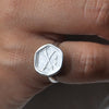 Silver Plated Ring w/ Arrows