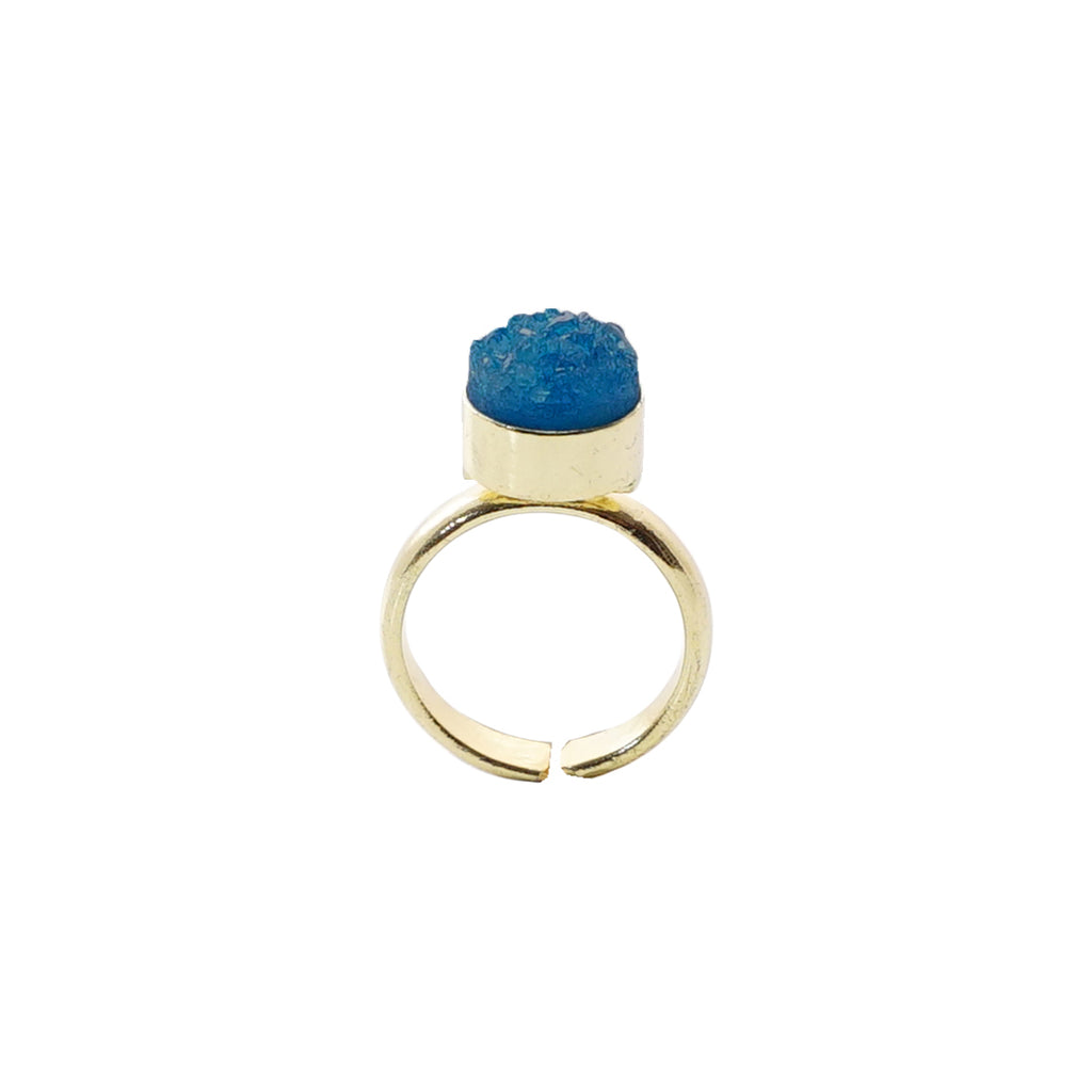 Small Dark Blue Stone Ring