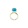 Small Blue Stone Ring
