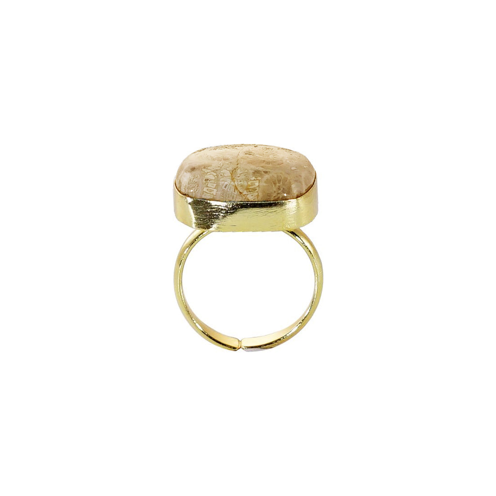 Beige Stone Ring