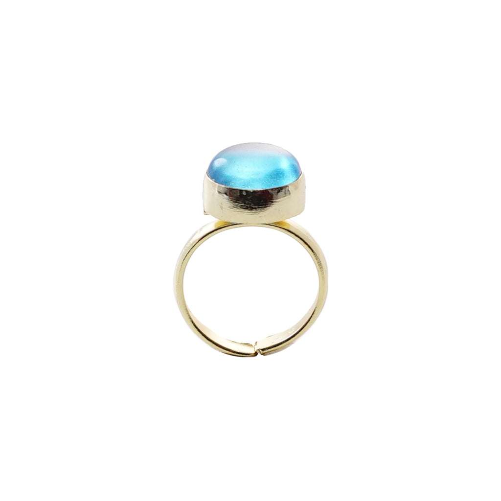 Blue Transparent  Ring