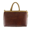 Brown & Beige Leather Bag