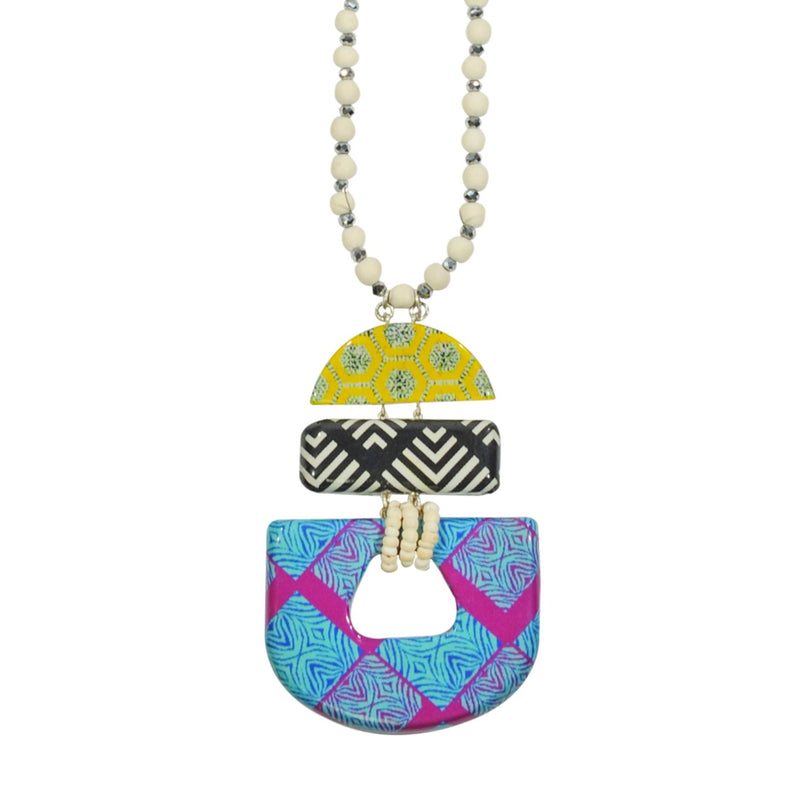 Multicolored Patterned Necklace