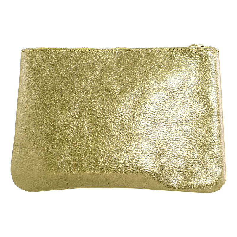 Golden Leather Handbag