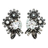 Black & White Crystal w/ Pearl Earrings