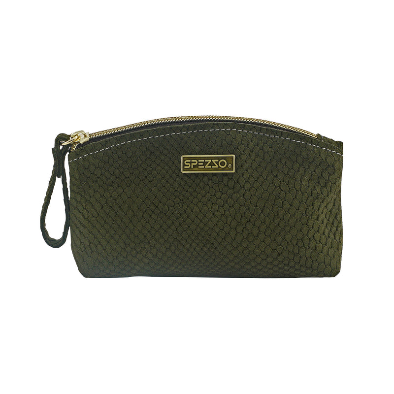Green Suede Pouch