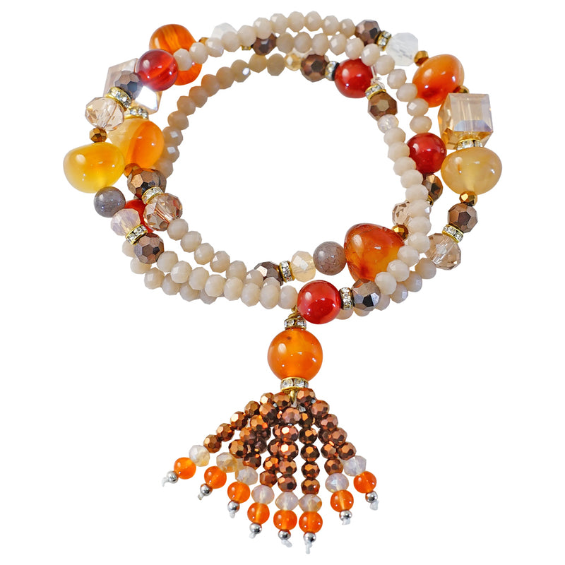 Multicolored Crystal & Stone Bracelet/Necklace