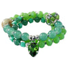 Green Stone & Crystal Bracelet/Necklace
