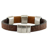 Brown Leather Bracelet w/ Silverish Details
