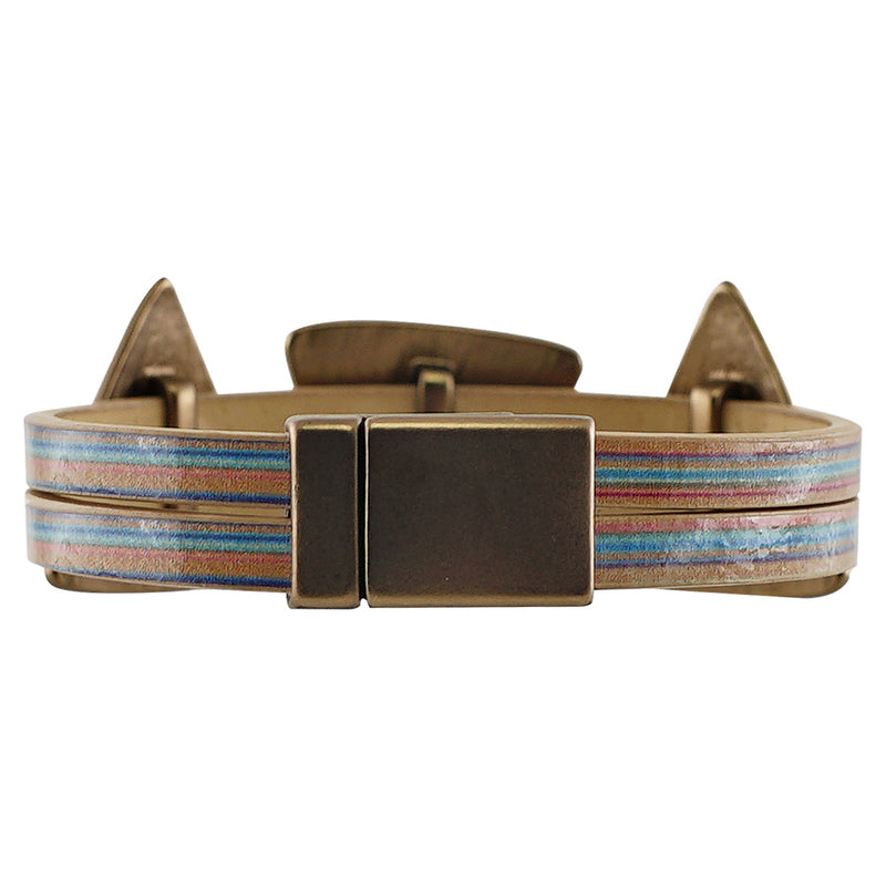 Multicolor bracelet w/ geometric shapes