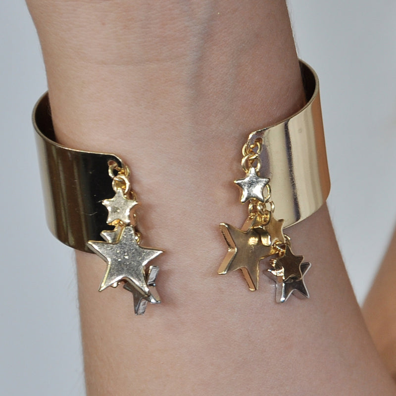 Gold Plated Bracelet with Stars
