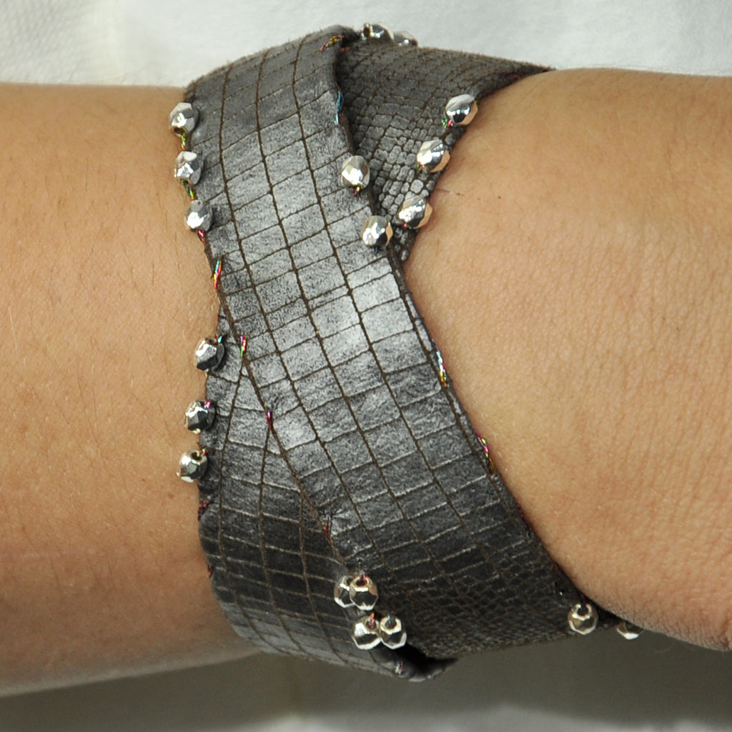 Grey Bracelet with Two Laps