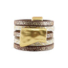 Brown & Cream Ring w/ Golden Details