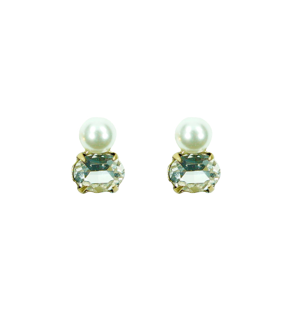Crystal Earrings w/ Pearl