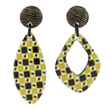 Black & Yellow Patterned Earrings