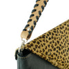 Black Leather Bag w/ Leopard Pattern