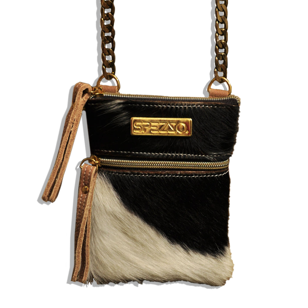 Spezzo Concert Purse with Fur