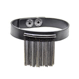 Black Bracelet with Fringe